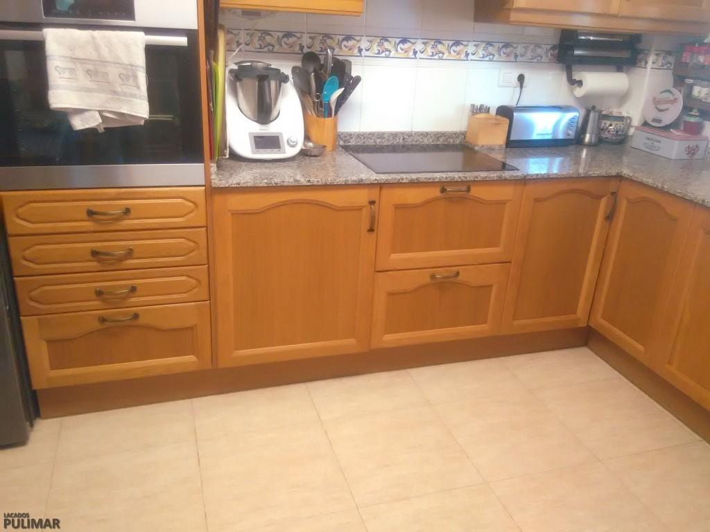 Como lacar muebles de cocina great awesome cambiar for Lacar muebles en blanco