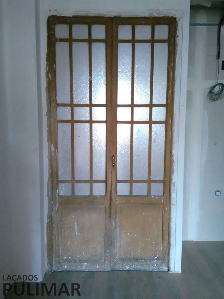 Restauraci n de puertas lacados pulimar for Restauracion de puertas antiguas